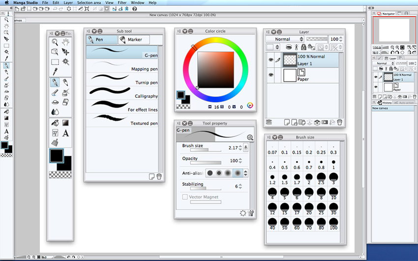 Mangastudio5-interface