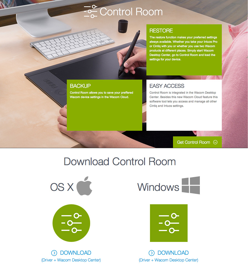 Dropzone, Control Room and Cloud by Wacom |