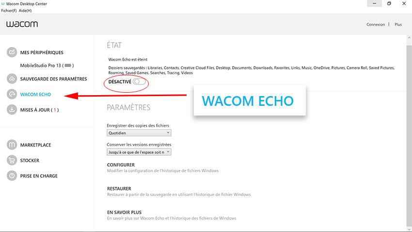 Wacom Echo, c'est fini